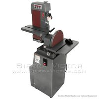"""JET 6"""" x 48"""" Industrial Combination Belt and 12"""" Disc Finishing Machine 115V 1Ph, 414551, 414552, 414553"""