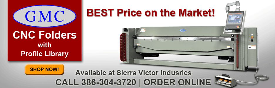 GMC CNC Folders with Profile Library Available at Sierra Victor Industries
