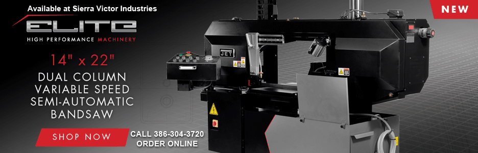 New JET Elite ECB-1422V Dual Column Variable Speed Semi-Automatic Bandsaw 891160 Available at Sierra Victor Industries