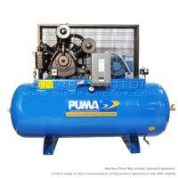 PUMA 10 HP Industrial Horizontal 3-Phase Air Compressor TUK-100120M3