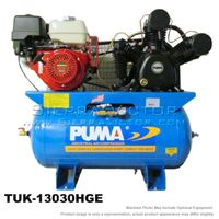 13 HP Professional/Commercial Two Stage Gas-Powered Horizontal Air Compressor TUK-13030HGE