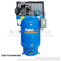 PUMA 7.5 HP Horizontal Industrial Air Compressors TUK-75120M3