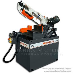 New HE&M Semi-Automatic Double Miter Bandsaw: 260 BSA for sale