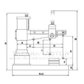 VICTOR Radial Drill 1249H