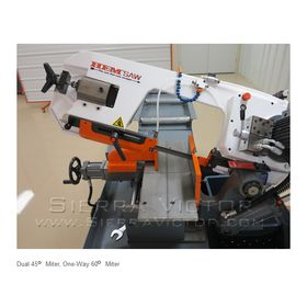 HE&M Semi-Automatic Double Miter Bandsaw 260 BSA