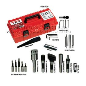 JET 24- Piece Milling Tool Kit for R-8 Spindle Milling Machines, 660220