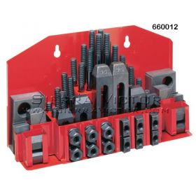 JET CK-12, 52-Piece Clamping Kit with Tray for T-Slot, 660012