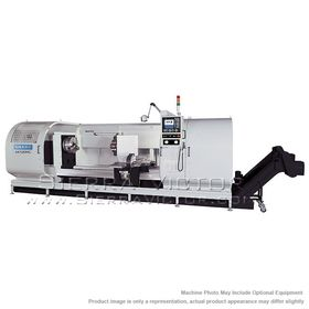 New SHARP CNC Big Bore Flat Bed Lathe for sale