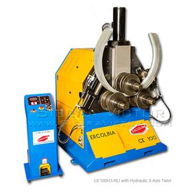 New ERCOLINA Hydraulic Angle Roll-Section Bender with Hydraulic 3-Axis Twist Correction for Angle Iron CE100H3-RLI for sale