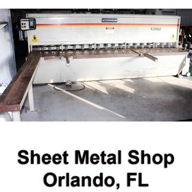SHEET METAL SHOP, ORLANDO, FL - PAST LIQUIDATION