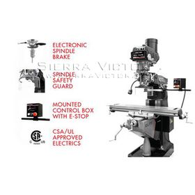 JET ELITE ETM-949EVS, Elite 9x49 Electronic Variable Speed Mill 230V, 3Ph, 894050