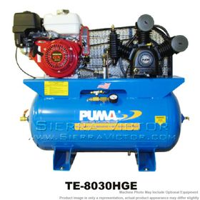 8 HP Professional/Commercial Two Stage Gas-Powered Horizontal Air Compressor TE-8030HGE