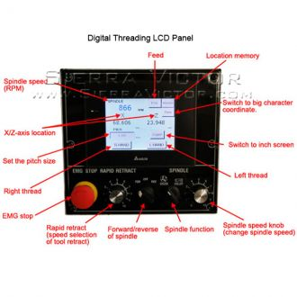 VICTOR Super Precision Toolroom Lathe with Digital Threading Control 618E